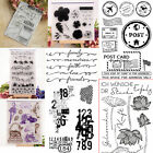 Cowboy Flower Post Card Camera Number Music Clear Silicone Stamp Transparent DIY