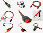 Anderson Powerpole Adapter Cable Power Supply Battery F2 4mm Post Ring Cord