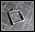 Photo Frame Pendant Square Picture Charm Square Antiqued Silver Open 21mm