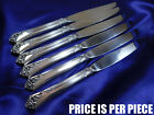 *1* HEIRLOOM DAMASK ROSE STERLING SILVER DINNER KNIFE - NEARLY NEW CONDITION