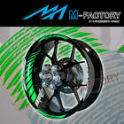 For Kawasaki ZX-10R Ninja ER-6N #GP2 Green Fluorescent Wheel Stripes Rim Sticker
