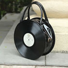 Harajuku Vinyl Record Handbag Vintage Cd Album Black Round 3d Shoulder Bag Purse