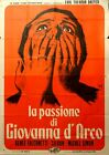 PASSION OF JOAN OF ARC italian 2p RR59 Carl Theodor Dreyer poster Longi art