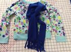 WINTER WONDERLAND Girls Size M7 8 Micro Fleece Crew Sweatshirt w Neck Scarf