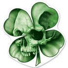 Lethal Threat Four Leaf Clover Skull Sticker Motorcycle Windshield Fairing Decal