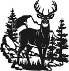 Deer Forest Mountain Scenery Vinyl Decal Sticker For Car Truck Jeep Home Decor