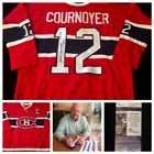 Yvan Cournoyer Montreal Canadiens Signed Autograph NHL Hockey Jersey JSA L20681