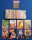 1993 Marvel Masterpieces Complete 90 Card Base Set Comic Book Cards