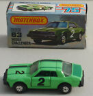 DTE HONG KONG LESNEY MATCHBOX SUPERFAST PICTURE BOXED 63 C DODGE CHALLENGER NIOB