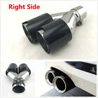Universal Right Side Car 100 Real Carbon Fiber Exhaust Dual Pipes TWIN End Tips