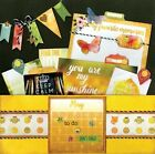 Bo Bunny Calendar Girl Scrapbook paper Lot 12 pieces double sided