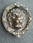 Unique,hand made,Large Solid Brass, 4.14lb ,Lion Head Door Knocker 8