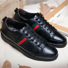 Mens Board Shoes Leather Lace up Sneakers Sports Round Toe Shoes Athletic US SZ