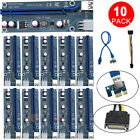 10x USB30 1x to16x Adapter Extender Riser Card 6 PIN Cable PCI E Express Mining