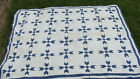 White cotton patchwork quilt as is, 77