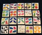 Vintage LOT of 20 Great 7 Seven FUZZY Fun Animal Stickers