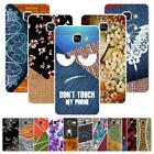 For Samsung Galaxy A3 2017 A320F Case Cover Crocodile Denim Cloth Marble Flowers