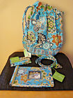 New Vera Bradley Bali Blue Ditty Bag Lanyard Photo Album Card Holder Lot of 4