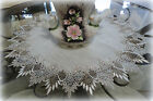 24 Doily EARTH FEATHER LACE Neutral Tone Table Topper Scarf