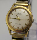 Vintage Mido Multifort Super Automatic Powerwind Mens Gold Filled Wrist Watch
