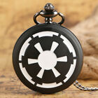 Galactic Empire Badge Star Wars Ewok Men Boy Quartz Pocket Watch Necklace Chain