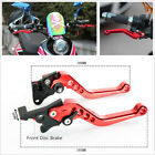 Motorcycle Modified GY6 Brake Lever Adjustable CNC Disc/Drum Hand Brake-Horns
