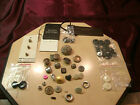 Atq/Vtg WONDERFUL GROUP of SMALL MIXED BUTTONS-free ship