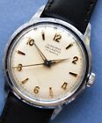 EXCELLENT dial JUNGHANS TRILASTIC 17J CP/SS mens watch -1960's+ new strap