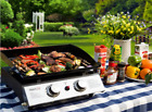 Portable Table Top Hibachi Grill Griddle Camping Tailgating Compact LP Gas New