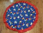 chriatmas tree skirt blue red snowman snowmen 51""