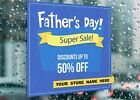 Fathers Day Super Sale Special Day Dis Large Self Adhesive Window Shop Sign 3221