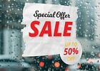 Special Offer Sale Up to 50  Off Busi Large Self Adhesive Window Shop Sign 3223