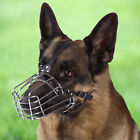 Dog Muzzle German Shepherd Adjustable Metal Wire Basket For Training L XL