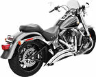 Freedom Exhaust System Sharp Curve Radius Chrome Harley Davidson HD00210