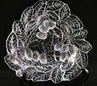 Vintage Indiana Glass Clear Triangular Loganberry Mint Dish, Candy Dish.