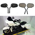 Set Tapered Black Motorcycle Rearview Side Mirrors For Harley Touring Road Glide