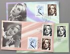 Sweden - USA joint issue 2005 Fleetwood 3 FDC Geta Garbo movie star cinema actre