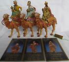 Fontanini 3 Kings on Camels Set 71514 Italy Collectible Creche Nativity Wise Men