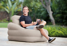 Inflatable Chair Outdoor Indoor Furniture Blow Up Camping Dorm Cup Holder New