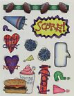 Teen Scene Chick Magnet Boy Crazy Football Fast Food Provo Craft Stickers