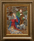 beaded embroidery DIY kit The Nativity religious picture gift idea beadwor