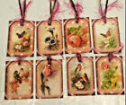 Spring Floral 8 Premium Gift Hang Tags Scrapbooking Card Craft Embellishments