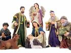 Holy Family with Wise Men Shepherd and Angel Deluxe Nativity Statue 12 Inch
