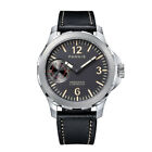 44mm Parnis Hand Winding Movement Men Casual Watch Small Second Sapphire Glass