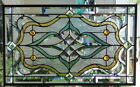 Stained Glass window hanging 26 X 16 Brass border (edging)