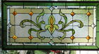 Stained Glass window hanging 36 X 18 Brass border (edging)