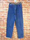 VTG Esprit sz 36 XS High Waisted Mom Jeans Patchwork Velvet Trim Blue Denim