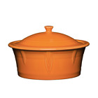 Fiestaware Large Covered Casserole Dish 90oz - Tangerine