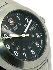 Victorinox Swiss Army Men's Watch Quartz Black Dial Stainless Steel Band Used