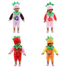 Doll Clothes Set Jumpsuit Hat Vegetable Series for 18'' Ameircan Girl Doll